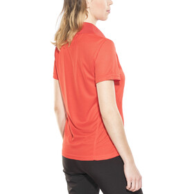 Meru Wembley Functional Polo Shirt Women Fiery Red